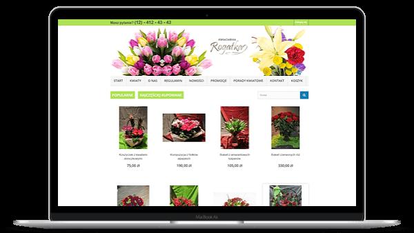 rogatka.pl sklep Shoper kwiaciarnia internetowa - Aktynova