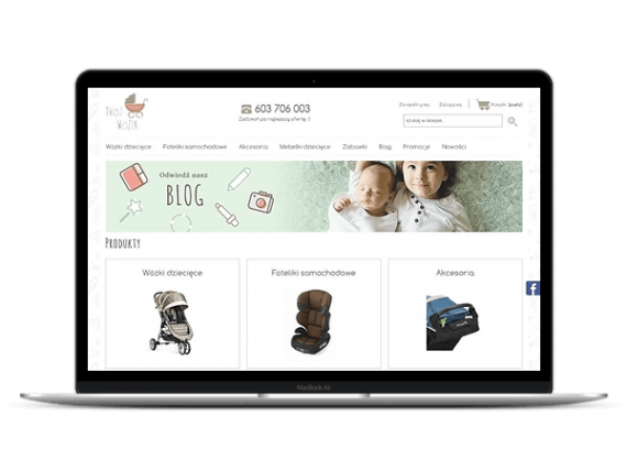 Twojwozek.pl sklep Shoper z wózkami dla dzieci - Aktynova