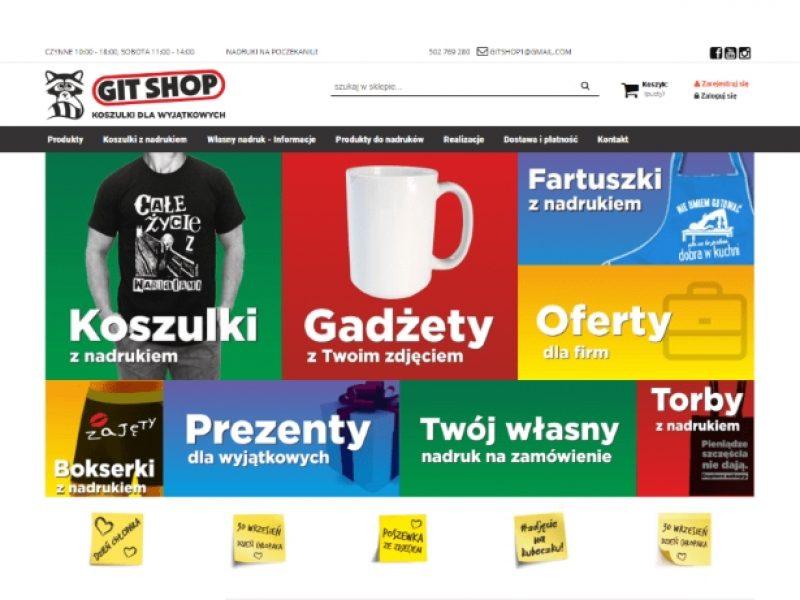 Git Shop sklep Shoper nadruki na koszulkach - Aktynova